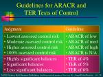 guidelines for aracr and ter tests of control1
