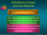 probabilistic sample selection methods1