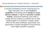change management in higher education important1