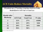 ace units reduce mortality