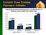 geriatric team training outcomes attitudes