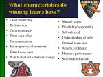 what characteristics do winning teams have