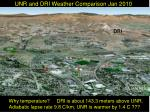 unr and dri weather comparison jan 2010