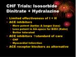 chf trials isosorbide dinitrate hydralazine