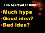 fda approval of bidil