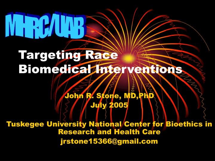 targeting race biomedical interventions n.