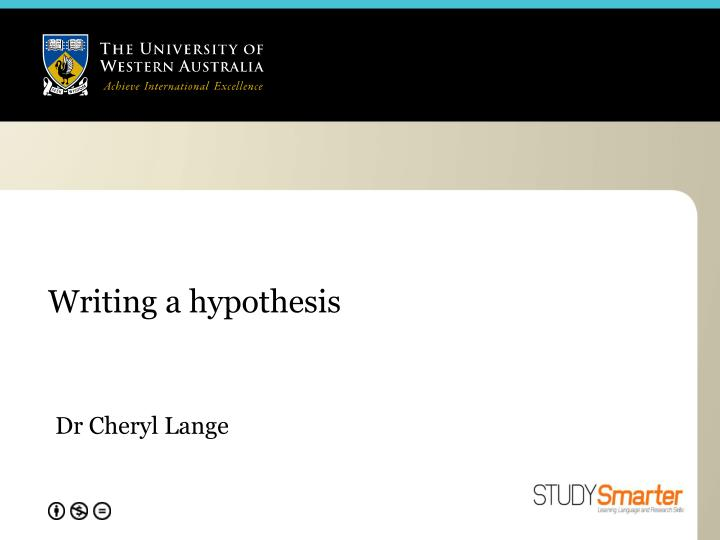 writing a hypothesis n.