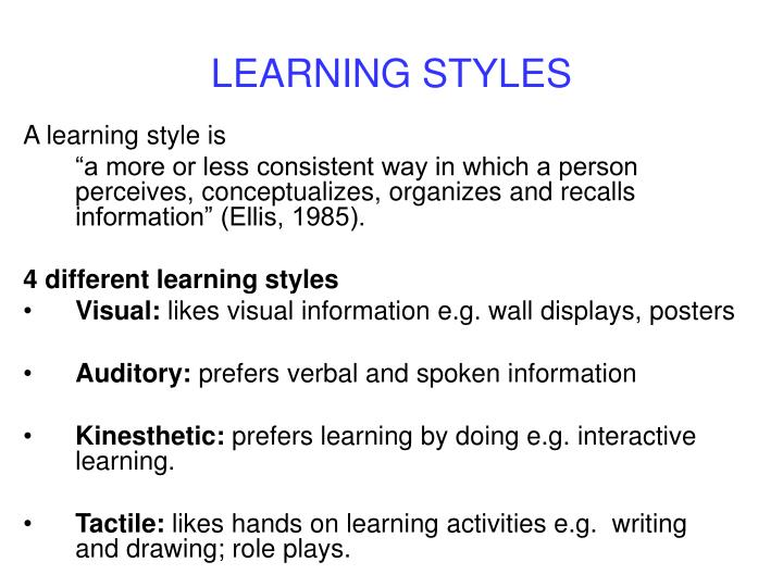 learning style essay writing