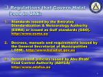 regulations that govern halal food in uae