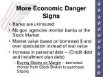 more economic danger signs