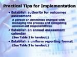 practical tips for implementation