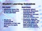student learning outcomes5