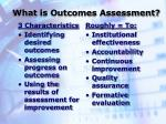 what is outcomes assessment