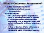 what is outcomes assessment2