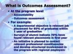 what is outcomes assessment3