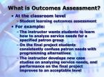 what is outcomes assessment5