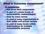 what is outcomes assessment6