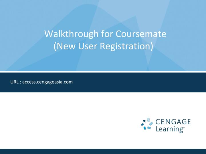 walkthrough for coursemate new user registration n.