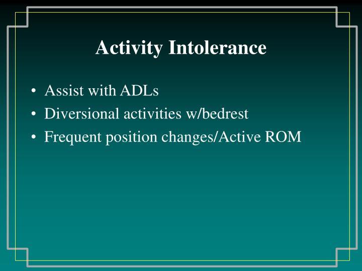 Activity Intolerance