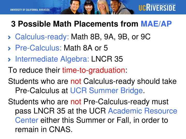 3 Possible Math Placements from