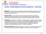 center of rail safety critical excellence overview