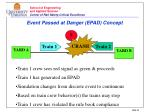 event passed at danger epad concept