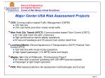 major center usa risk assessment projects