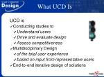 what ucd is