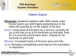 rib raising supine position