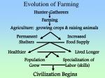 evolution of farming