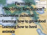 farming neolithic revolution