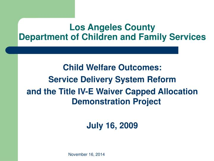los angeles county department of children and family services n.
