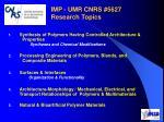 imp umr cnrs 5627 research topics1
