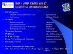 imp umr cnrs 5627 scientific collaborations