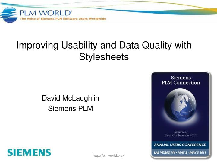 improving usability and data quality with stylesheets n.