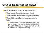 uha specifics of fmla1
