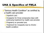 uha specifics of fmla2