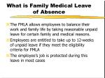 what is family medical leave of absence