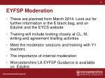eyfsp moderation