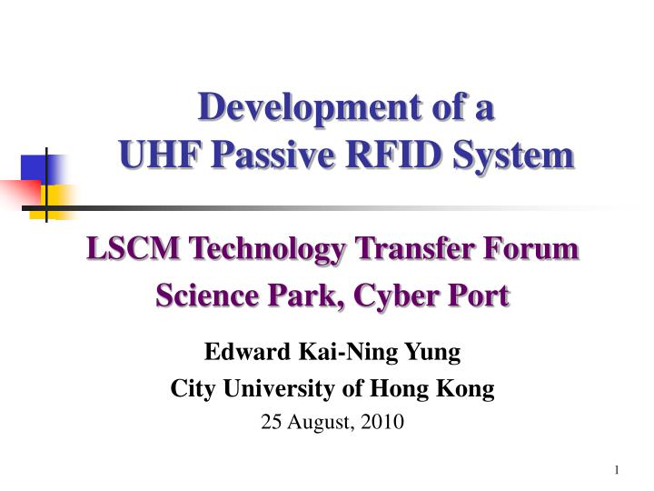 development of a uhf passive rfid system n.