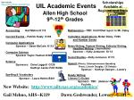 uil academic events allen high school 9 th 12 th grades