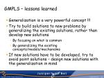 gmpls lessons learned