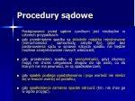 procedury s dowe