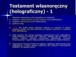 testament w asnor czny holograficzny 1