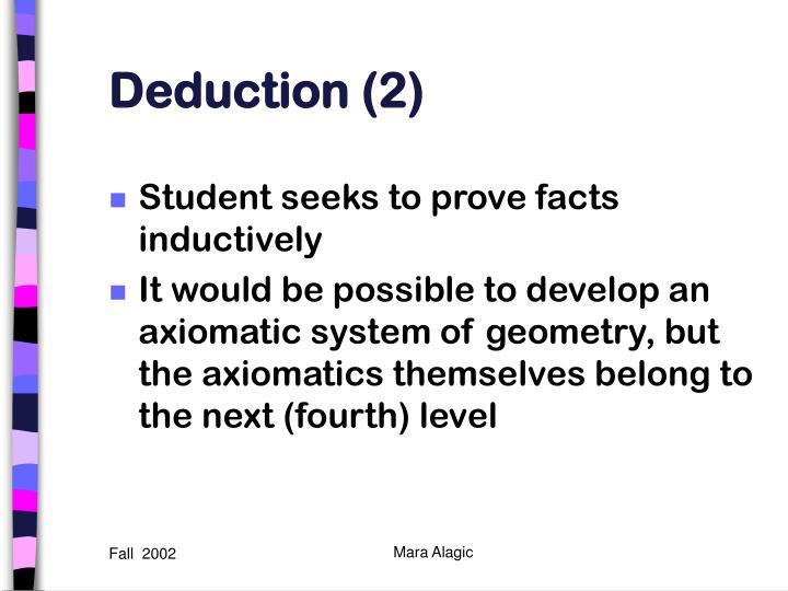 Deduction (2)