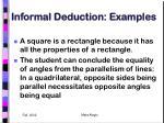 informal deduction examples
