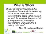 what is sroi