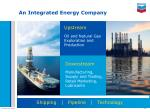 an integrated energy company