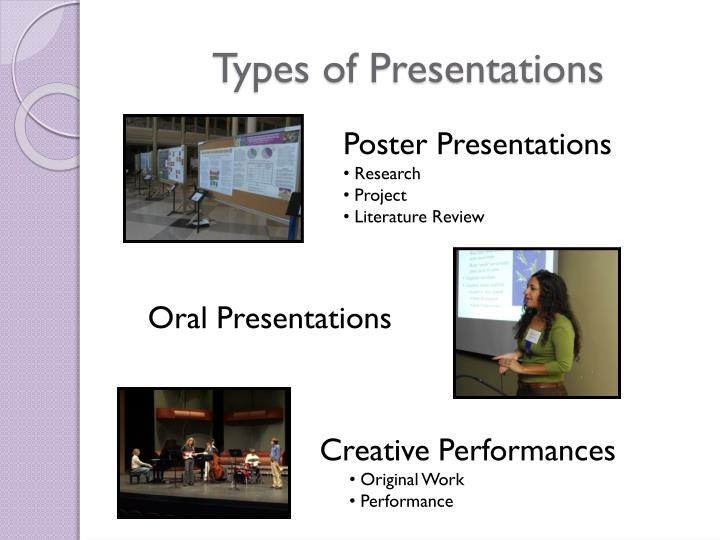 Types of Presentations
