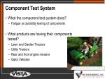 component test system